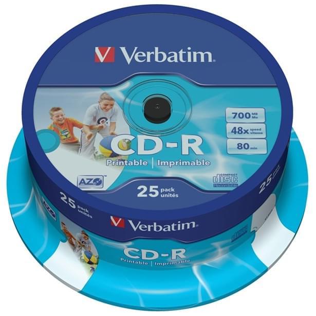 Verbatim CDR 80min cert. 48X (spindle de 25) - 0