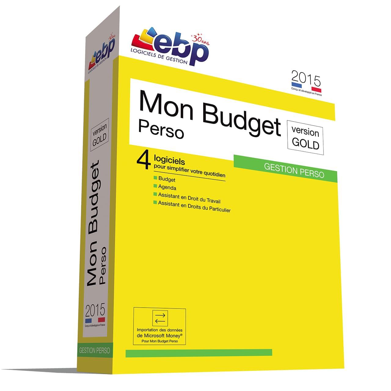 EBP Mon Budget Perso GOLD 2015 (1181E150FAB) - Achat / Vente Logiciel Application sur Cybertek.fr - 0