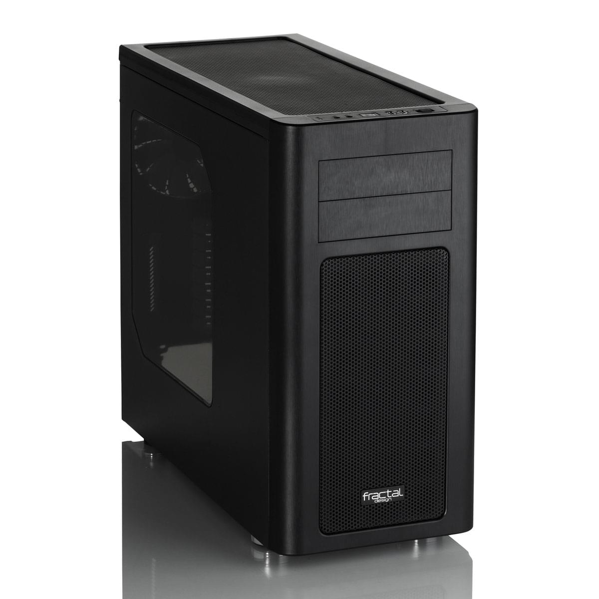Fractal Design Arc Midi R2 Black USB 3.0 Window -MT/Sans Alim/ATX - Boîtier PC Acier - Sans Alim - 0