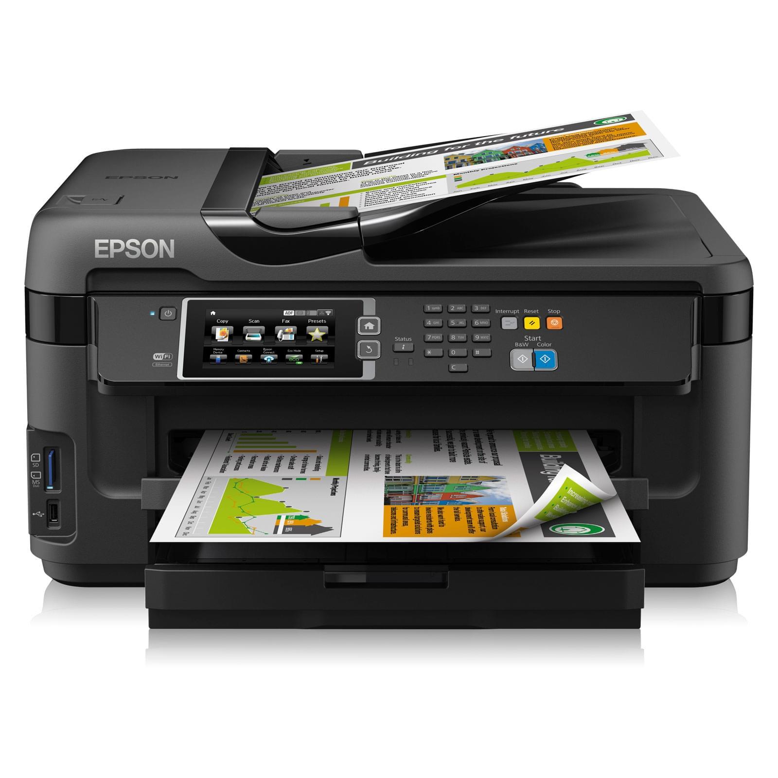 Epson WF-7610DWF (C11CC98302) - Achat / Vente Imprimante multifonction sur Cybertek.fr - 0