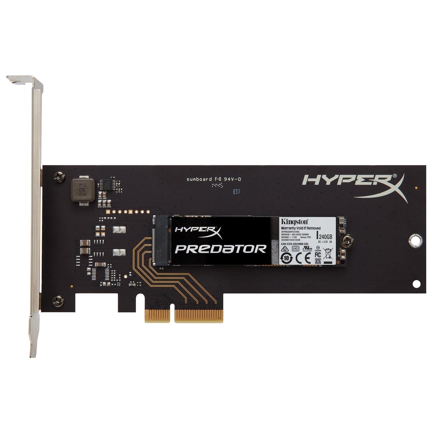 Kingston 240Go M.2 + Adapt. PCIe 4X SHPM2280P2H/240G (SHPM2280P2H/240G) - Achat / Vente Disque SSD sur Cybertek.fr - 0