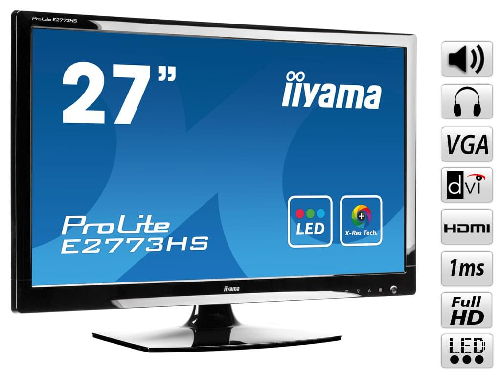 Iiyama E2773HS-GB1 (E2773HS-GB1 obso) - Achat / Vente Ecran PC sur Cybertek.fr - 0
