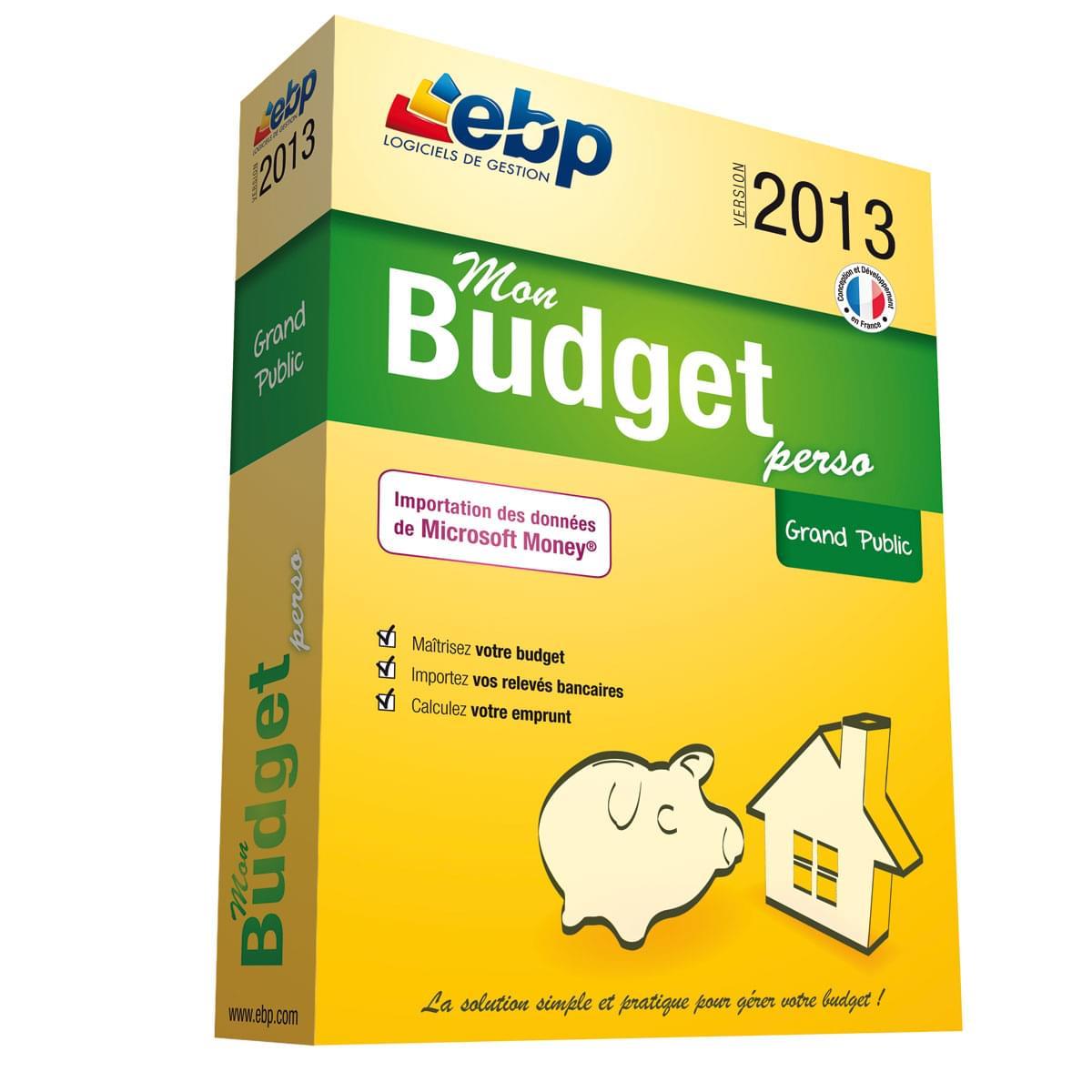 EBP Mon Budget Perso 2013 (1081E130FAA) - Achat / Vente Logiciel Application sur Cybertek.fr - 0