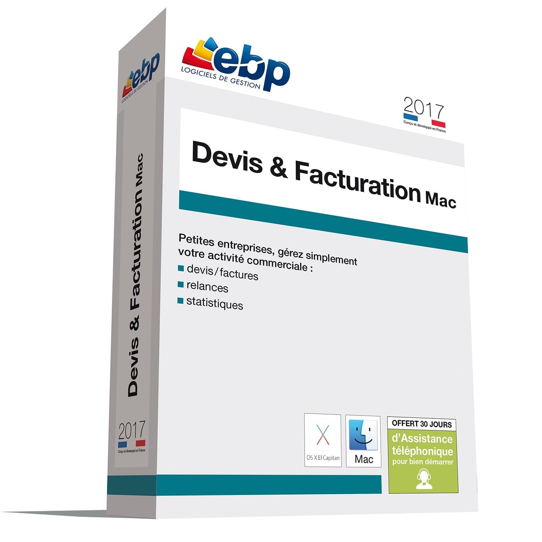 EBP Devis et Facturation MAC 2017 (1097J090FAA) - Achat / Vente Logiciel Application sur Cybertek.fr - 0