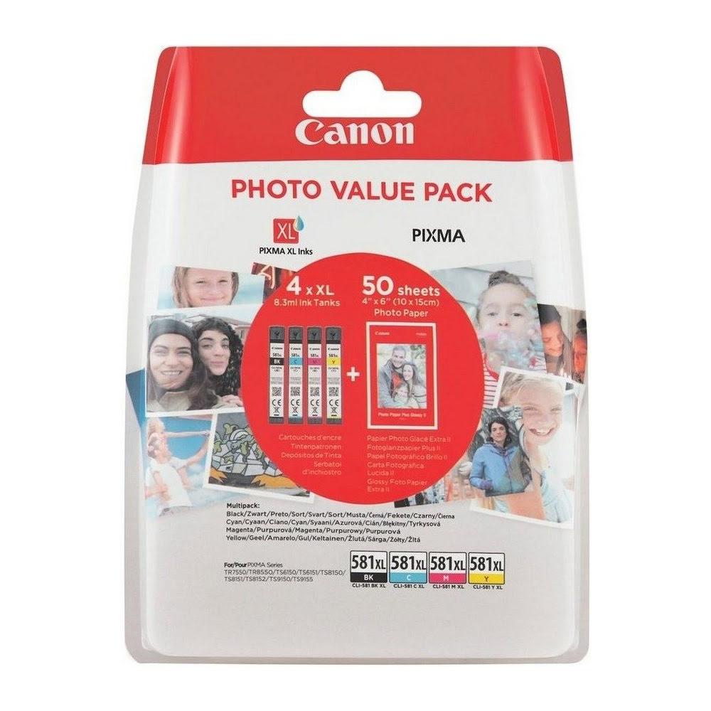 Pack cartouches CLI-581XL - 2052C004 pour imprimante Jet d'encre Canon - 0