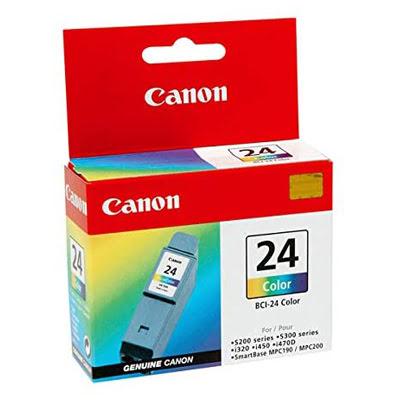 Cartouche BCI 24 C - 6882A002 pour imprimante Jet d'encre Canon - 0