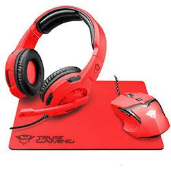 Trust GXT790-SR Spectra Gaming bundle (souris+tapis) Red (22471) - Achat / Vente Micro-casque sur Cybertek.fr - 0