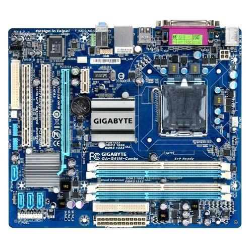 Gigabyte G41M-COMBO (G41M-COMBO) - Achat / Vente Carte Mère sur Cybertek.fr - 0