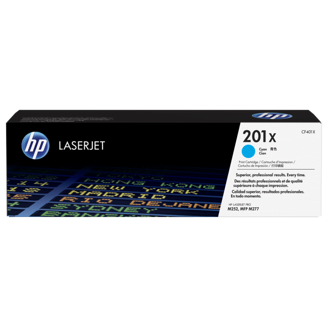 HP Toner 201X Cyan 2300p (CF401X) - Achat / Vente Consommable Imprimante sur Cybertek.fr - 0