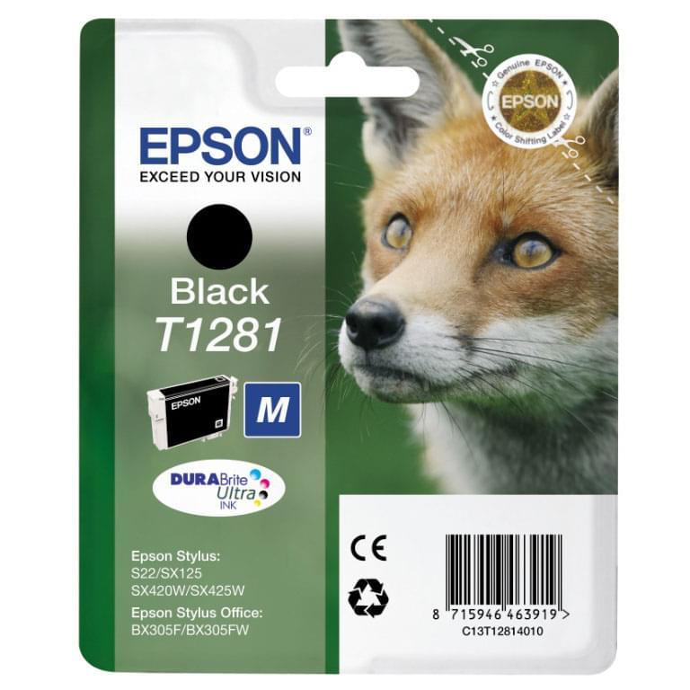 Epson Cartouche T1281 Noir (C13T128140) - Achat / Vente Consommable Imprimante sur Cybertek.fr - 0