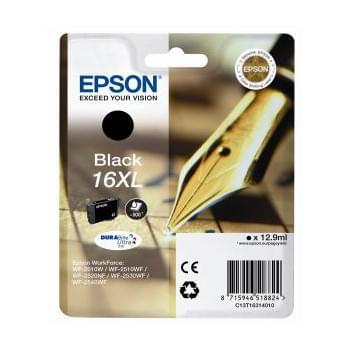 Cartouche d'encre Noir 16XL - T1631 pour imprimante Jet d'encre Epson - 0