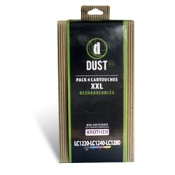 Cartouche Rechargeable Dust Eco Pack 4 cart.recharg. LC1220-LC1240-LC1280 XXL
