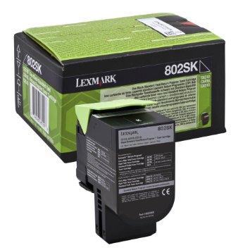 Lexmark Toner Noir 802SK (80C2SK0) - Achat / Vente Consommable Imprimante sur Cybertek.fr - 0