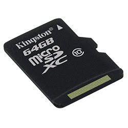 image produit Kingston Micro SDHC 64Go Class 10 + Adapt SDCS/64GB Cybertek