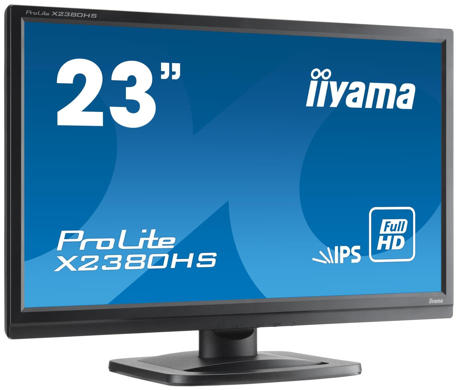"Iiyama 23""  X2380HS-B1 -- - Ecran PC Iiyama - Cybertek.fr - 0"
