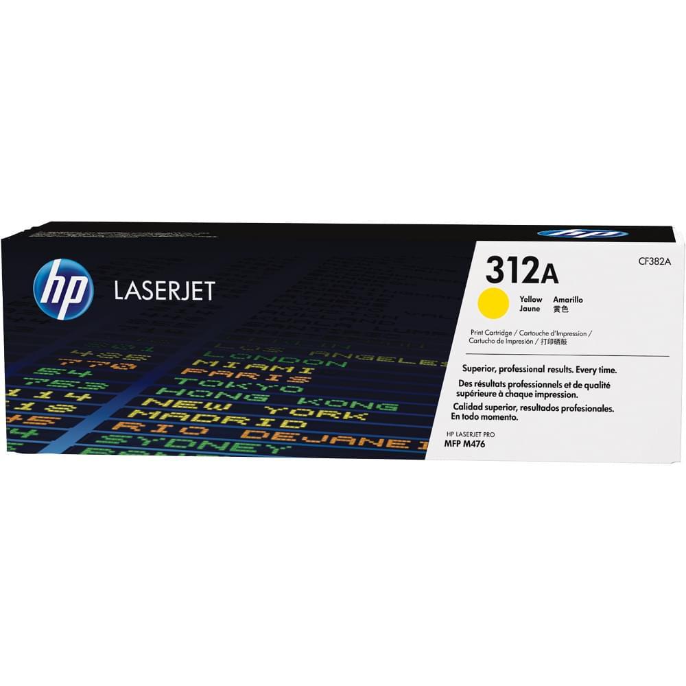 Toner Jaune HP 312A - CF382A pour imprimante Laser HP - 0