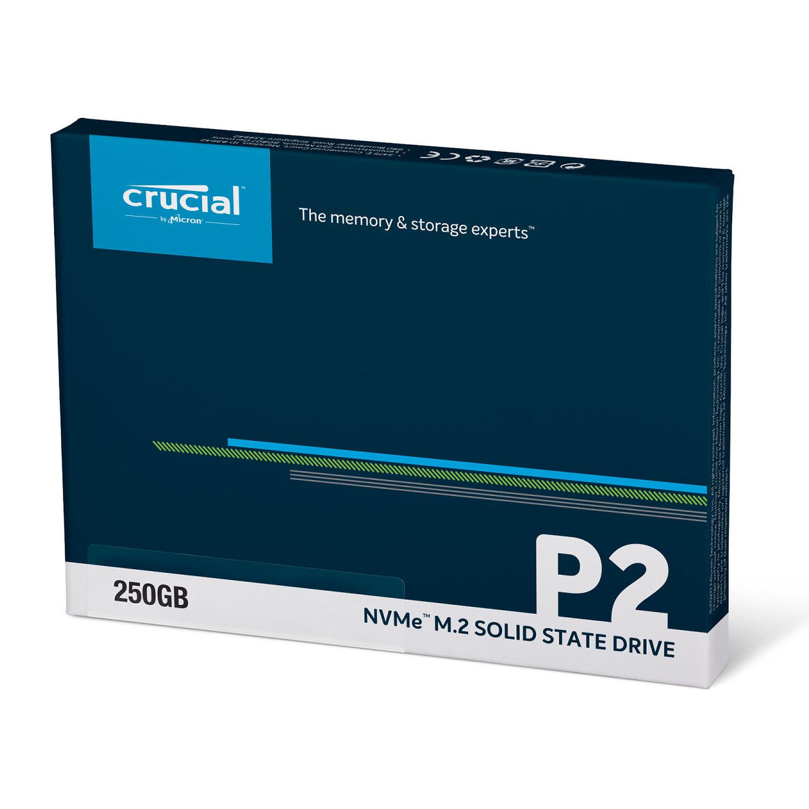 Crucial P2 240-275Go M.2 - Disque SSD Crucial - Cybertek.fr - 2