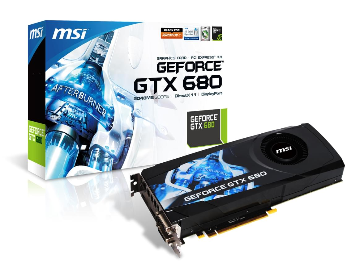 MSI GTX680 (N680GTX-PM2D2GD5) - Achat / Vente Carte Graphique sur Cybertek.fr - 0