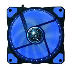 image produit DUST DU-F12LB Ventilateur lumineux 12cm 32 LED Bleues Cybertek
