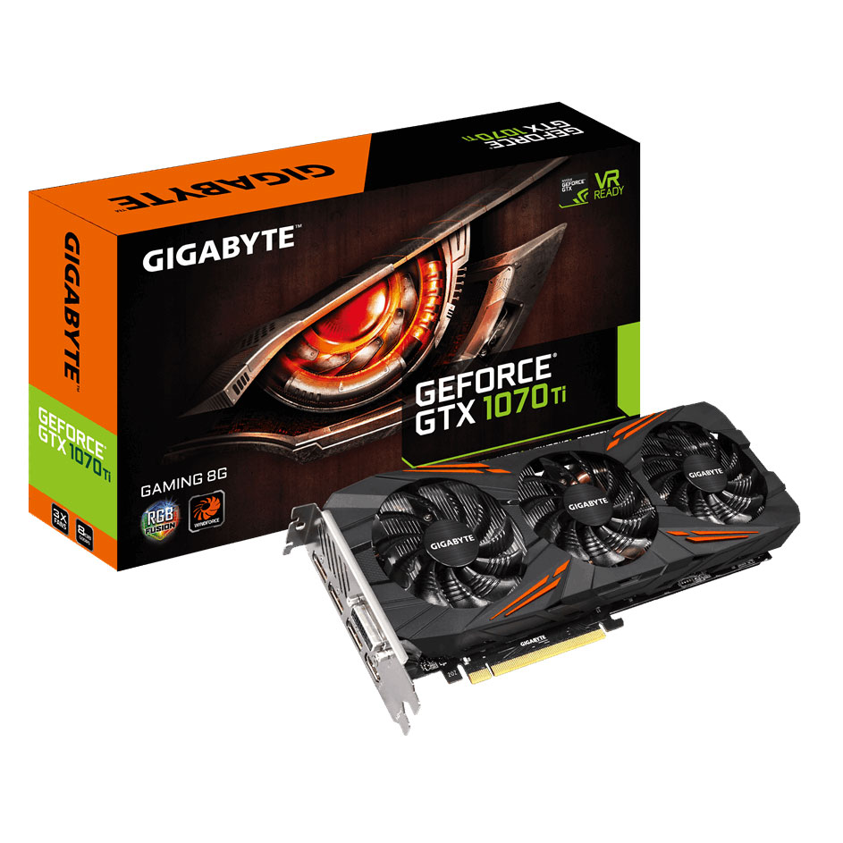 Gigabyte GTX 1070 Ti Gaming 8G 8Go - Carte graphique Gigabyte - 0