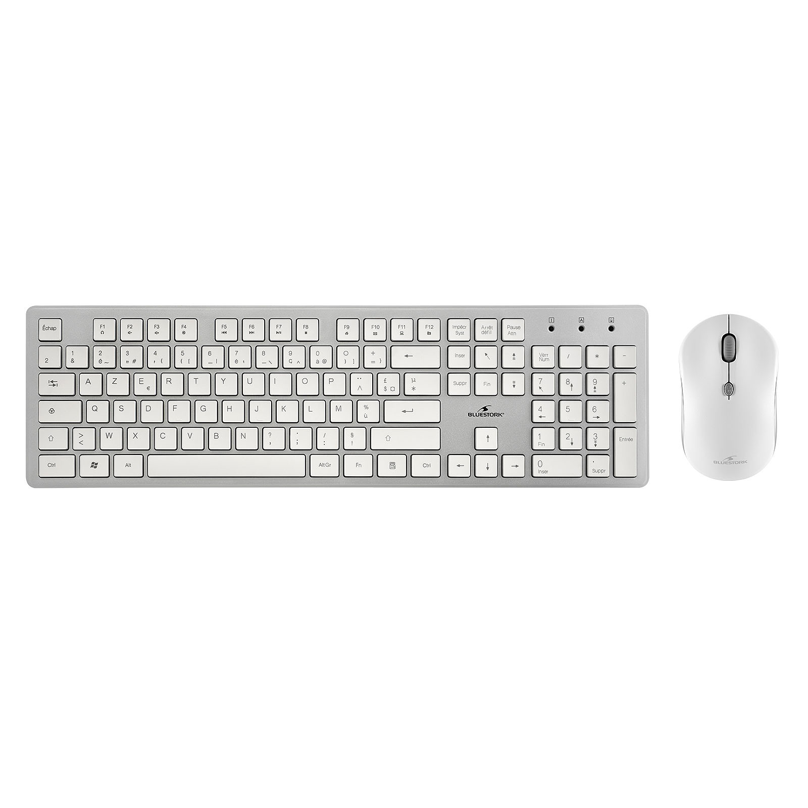 Bluestork Wireless Pack Easy II-N Blanc/Silver - Pack Clavier/Souris - 0