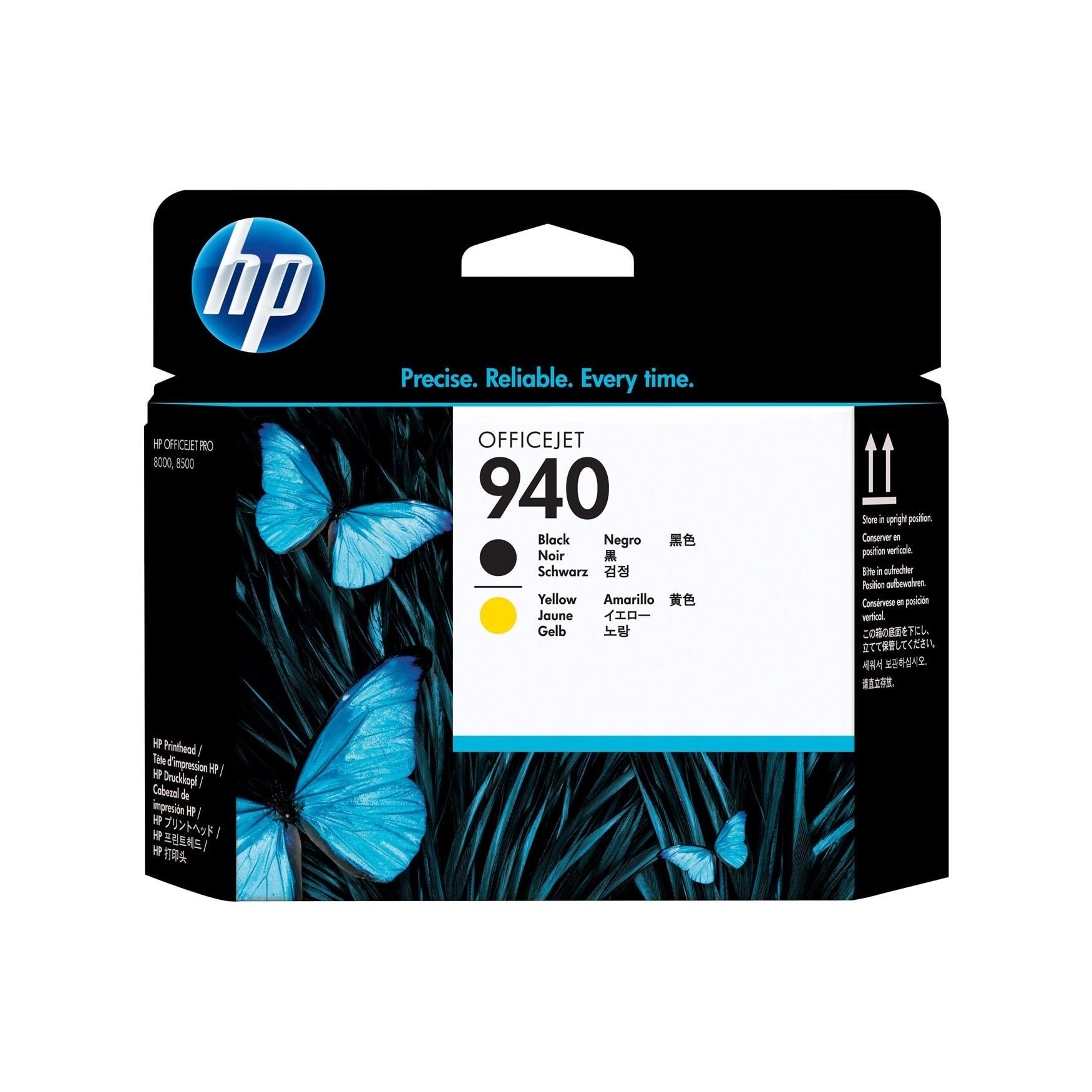 Tete d'impression N° 940 Noir Jaune - C4900A pour imprimante  HP - 0