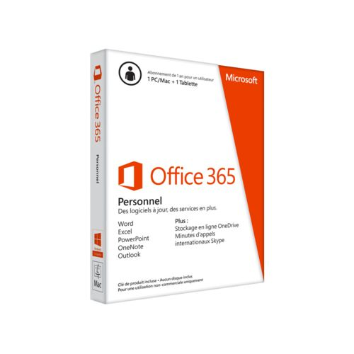 Microsoft Office 365 Personnel 1 an (QQ2-00099) - Achat / Vente Logiciel Suite bureautique sur Cybertek.fr - 0