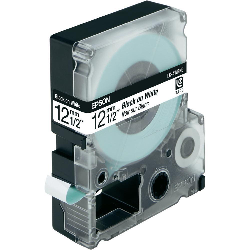 Ruban Transfert Thermique Noir sur Blanc LC-4WBN9 pour imprimante  Epson - 1