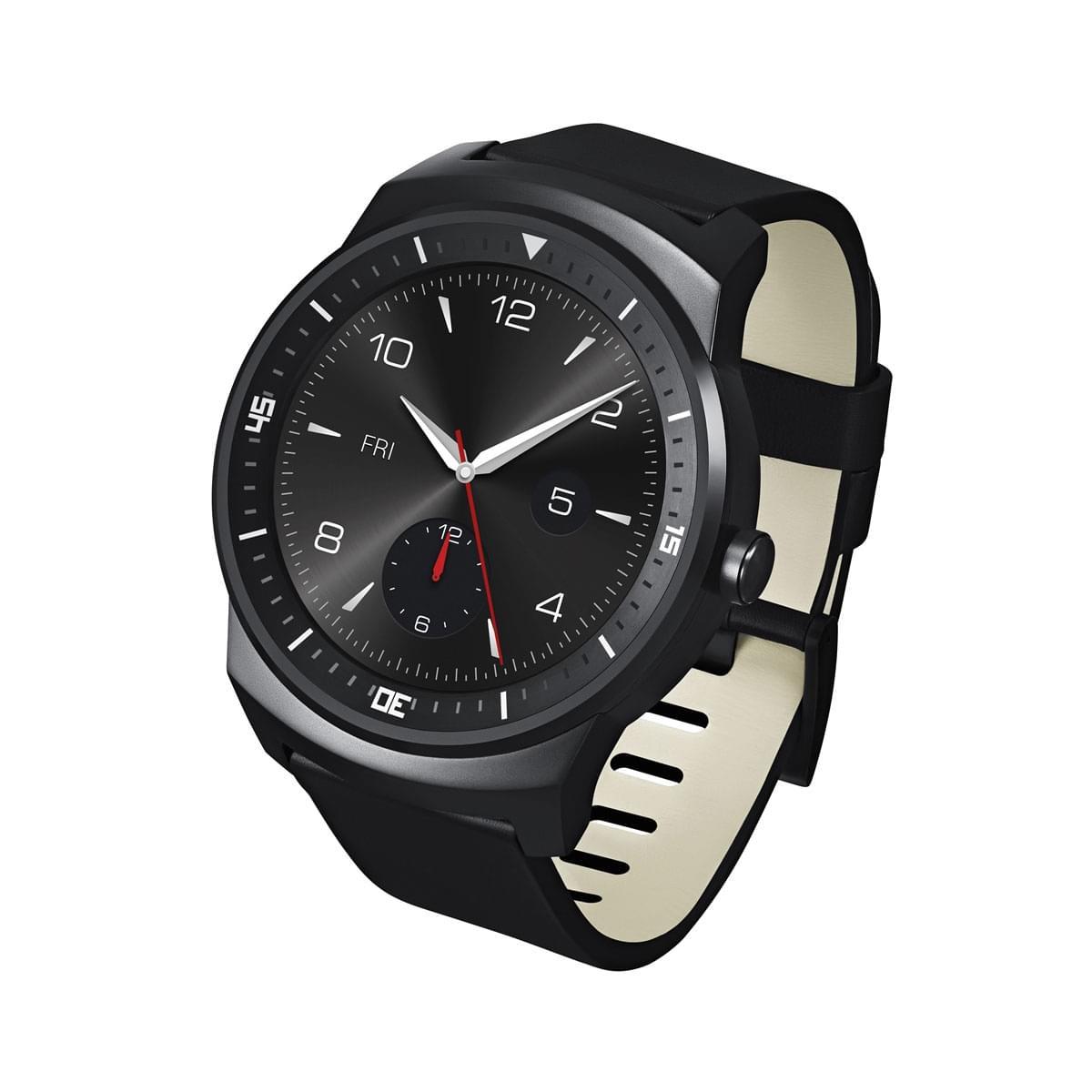 LG G Watch R (Montre connectée) (LGW110.AFRABK) - Achat / Vente Objet connecté / Domotique sur Cybertek.fr - 0