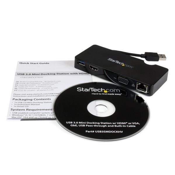 Réplicateur de ports USB3.0/HDMI/RJ45 USB3SMDOCKHV - StarTech - 1