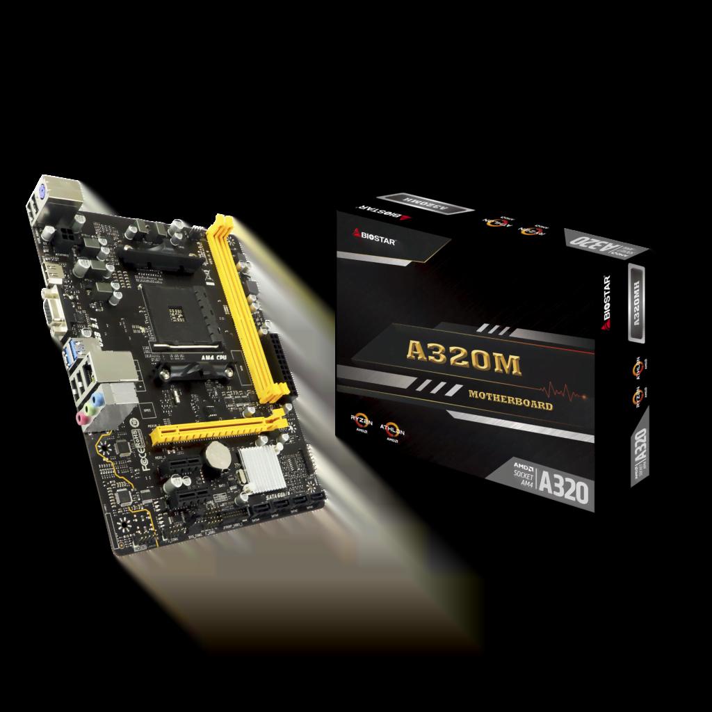 Biostar A320MH Micro-ATX DDR4 - Carte mère Biostar - Cybertek.fr - 0