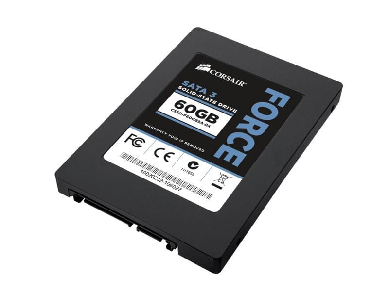 """Corsair 60Go SSD Force Series CSSD-F60GB3-BK SATA III (CSSD-F60GB3A-BK obso) - Achat / Vente Disque Dur interne 2.5"""" sur Cybertek.fr - 0"""