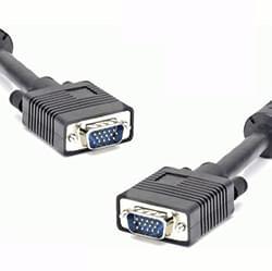 DUST Connectique PC Câble SVGA M/M Blindé et Ferrite - 10m Cybertek