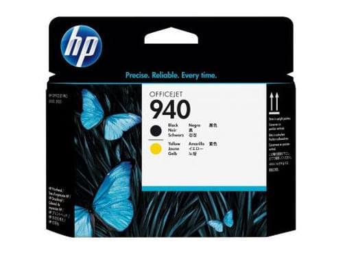 Tete d'impression N° 940  Noir Jaune - C4900A pour imprimante Jet d'encre HP - 0