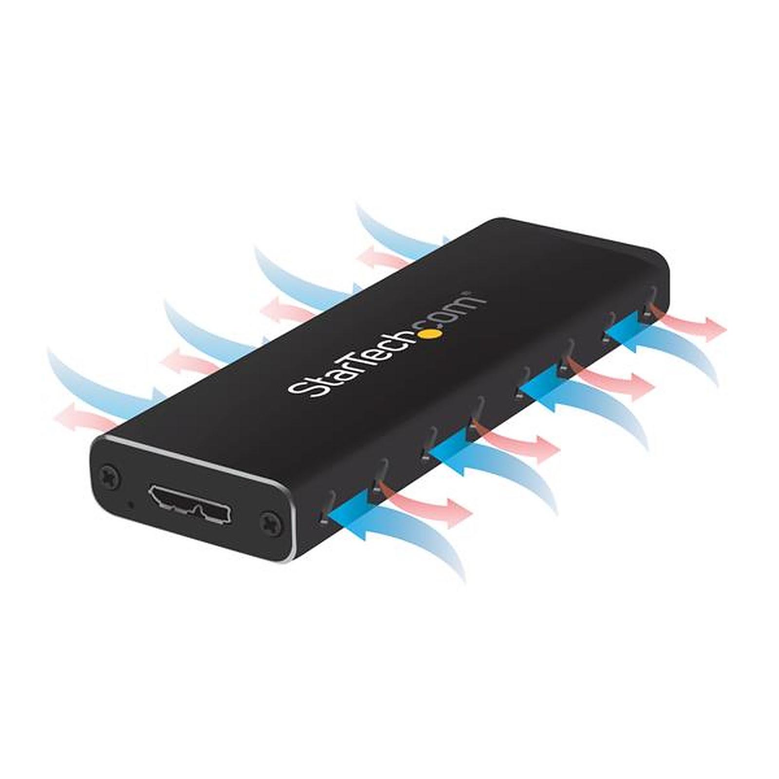 StarTech USB 3.0 pour SSD SATA M.2 - Boîtier externe - Cybertek.fr - 1