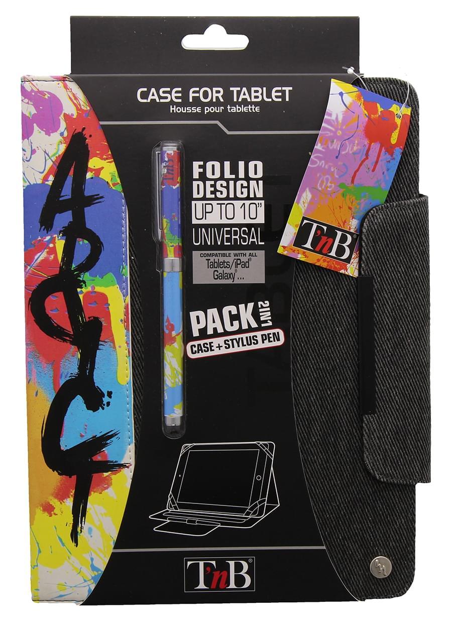 """T'nB Bundle Folio Addict Etui universel 10""""+Stylet (BUNTABAD) - Achat / Vente Accessoire Tablette sur Cybertek.fr - 0"""