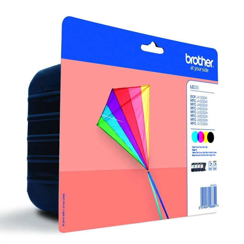 Brother Pack LC223VALBP noir + couleur (LC223VALBP) - Achat / Vente Consommable Imprimante sur Cybertek.fr - 0