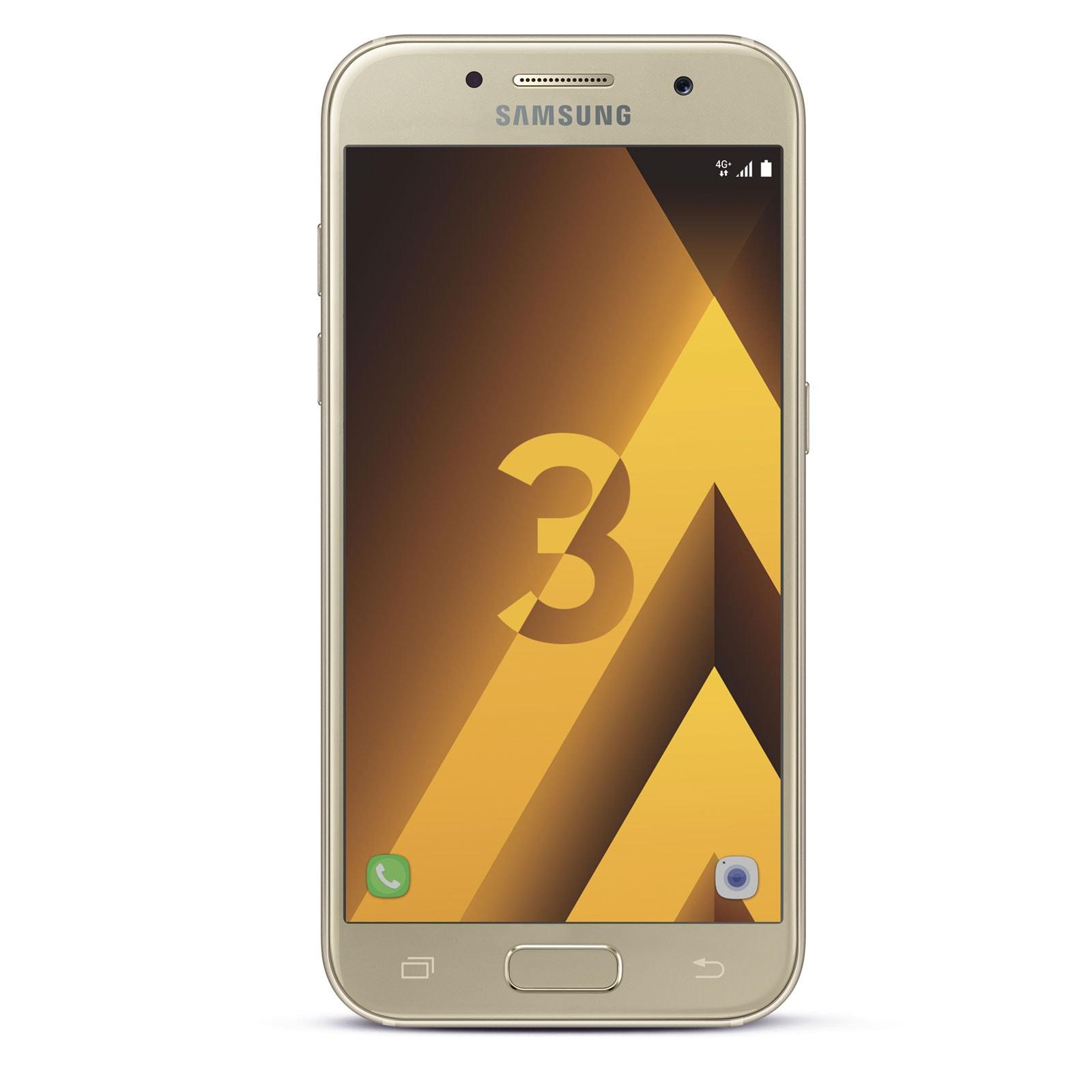 Samsung Galaxy A3 (2017) Or - Téléphonie Samsung - Cybertek.fr - 0