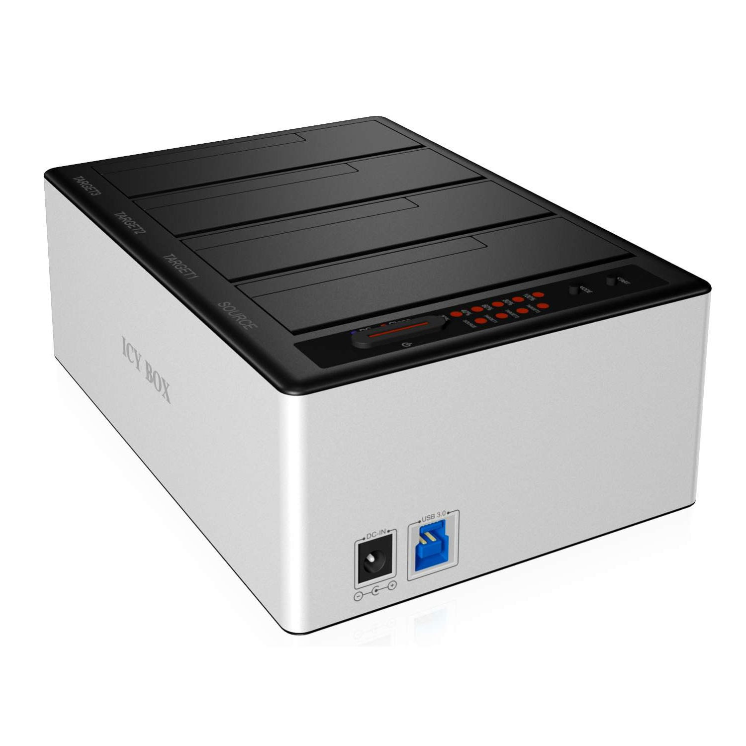 Icy Box Clone Station USB3.0 4 Baies - Boîtier externe - 2