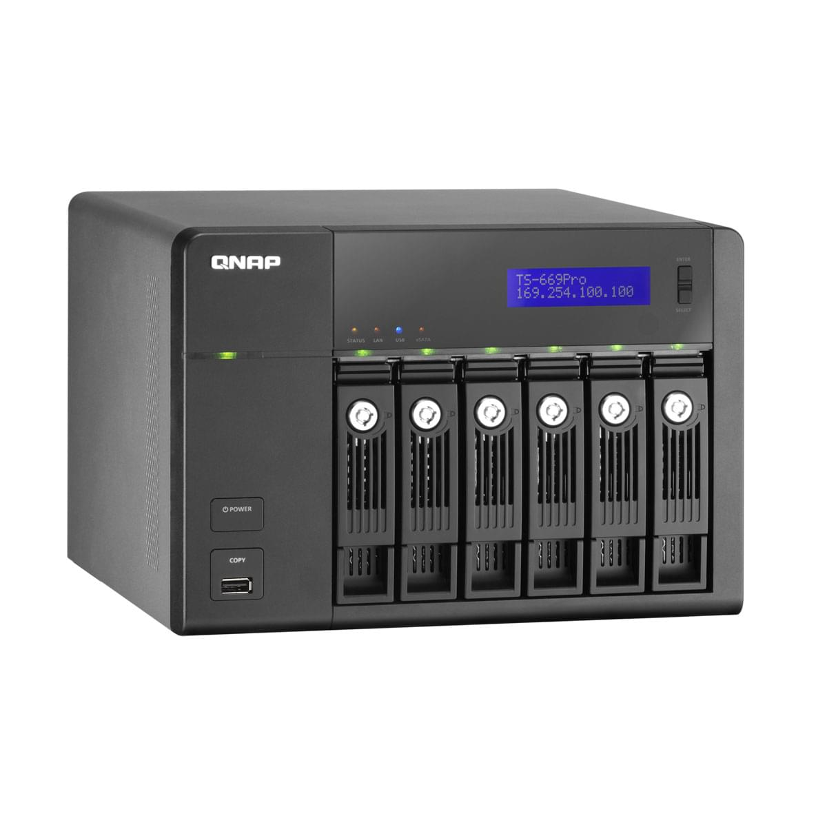 Qnap NAS TS-669 PRO (TS-669 PRO) - Achat / Vente Boîtier externe sur Cybertek.fr - 0