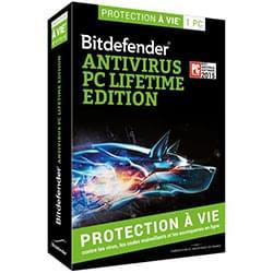 Bitdefender Logiciel sécurité Antivirus PC Lifetime Edition - A vie / 1 PC Cybertek