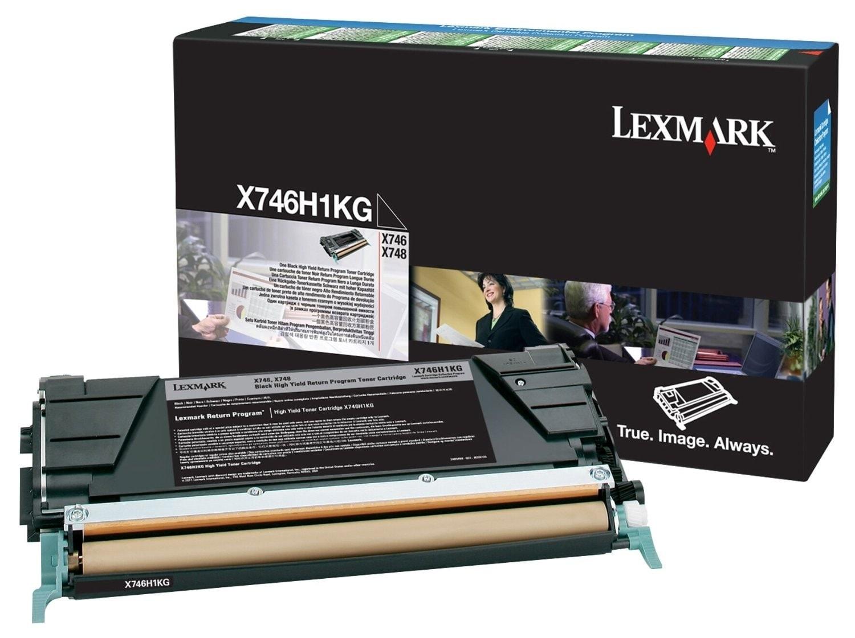 Toner Noir 12000p. - X746H1KG pour imprimante Laser Lexmark - 0