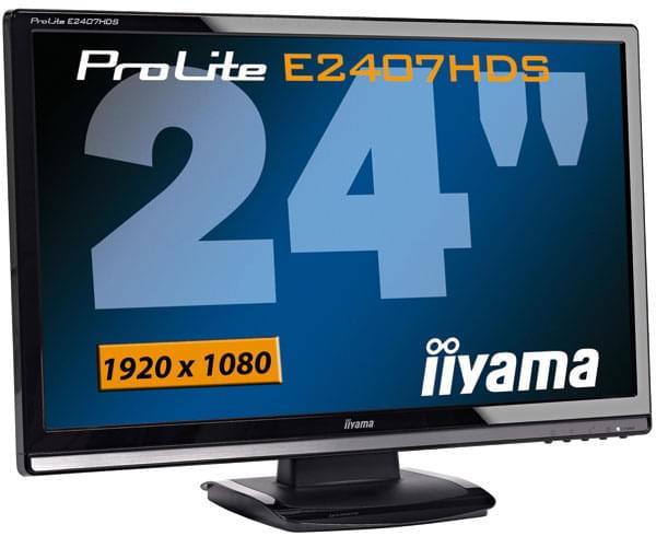 Iiyama PLE2407HDS-B1 (PLE2407HDS-B1 OBSO) - Achat / Vente Ecran PC sur Cybertek.fr - 0