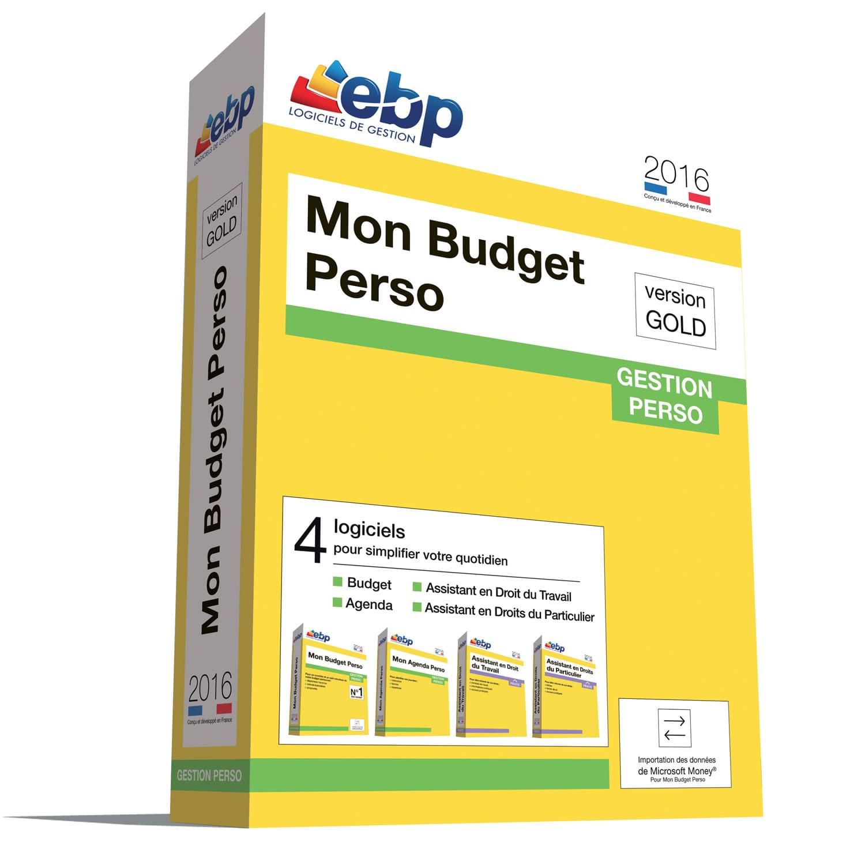 EBP Mon Budget Perso GOLD 2016 (1181E160FAA) - Achat / Vente Logiciel Application sur Cybertek.fr - 0