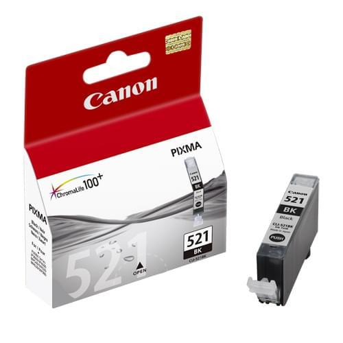 Canon Cartouche CLI-521BK Noir (2933B001) - Achat / Vente Consommable imprimante sur Cybertek.fr - 0
