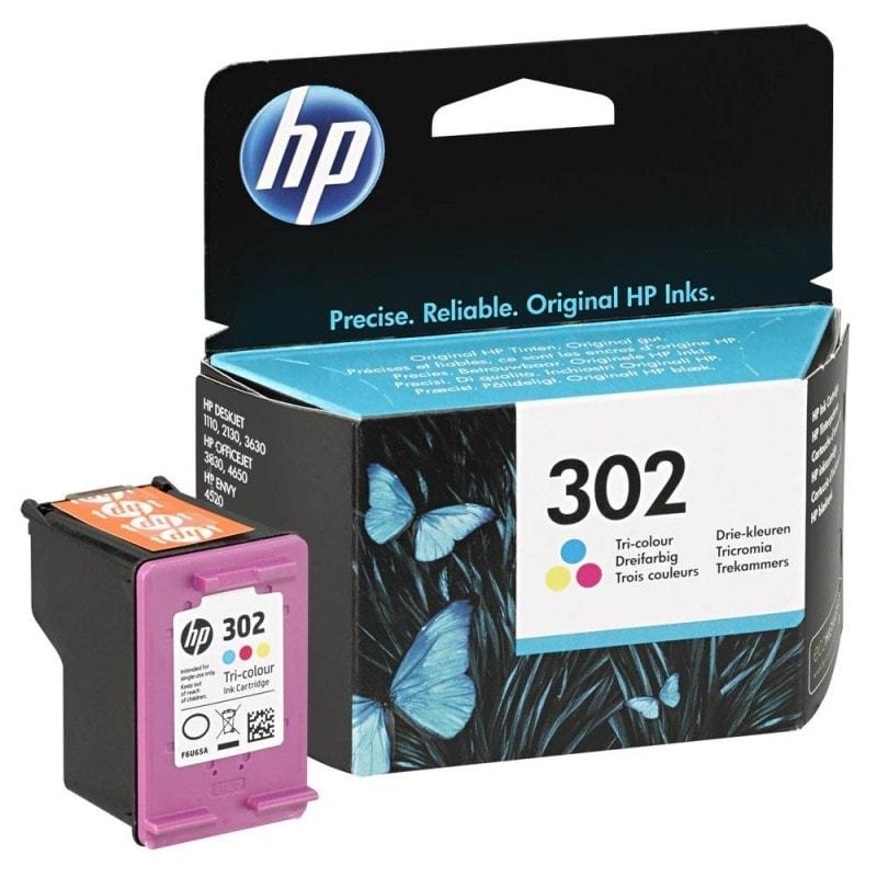 HP Pack Cartouche 3 couleurs HP 302 (F6U65AE#301) - Achat / Vente Consommable imprimante sur Cybertek.fr - 0