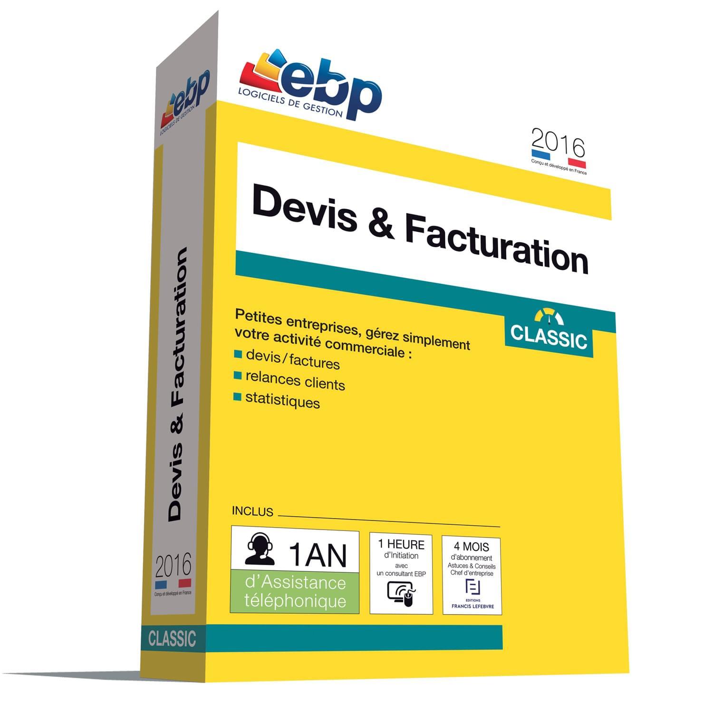 EBP Devis & Facturation Classic 2016 + VIP (1008J081FAA) - Achat / Vente Logiciel application sur Cybertek.fr - 0