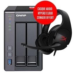 image produit Qnap NAS TS-251+ (+ Casque HyperX Cloud Stinger offert) Cybertek