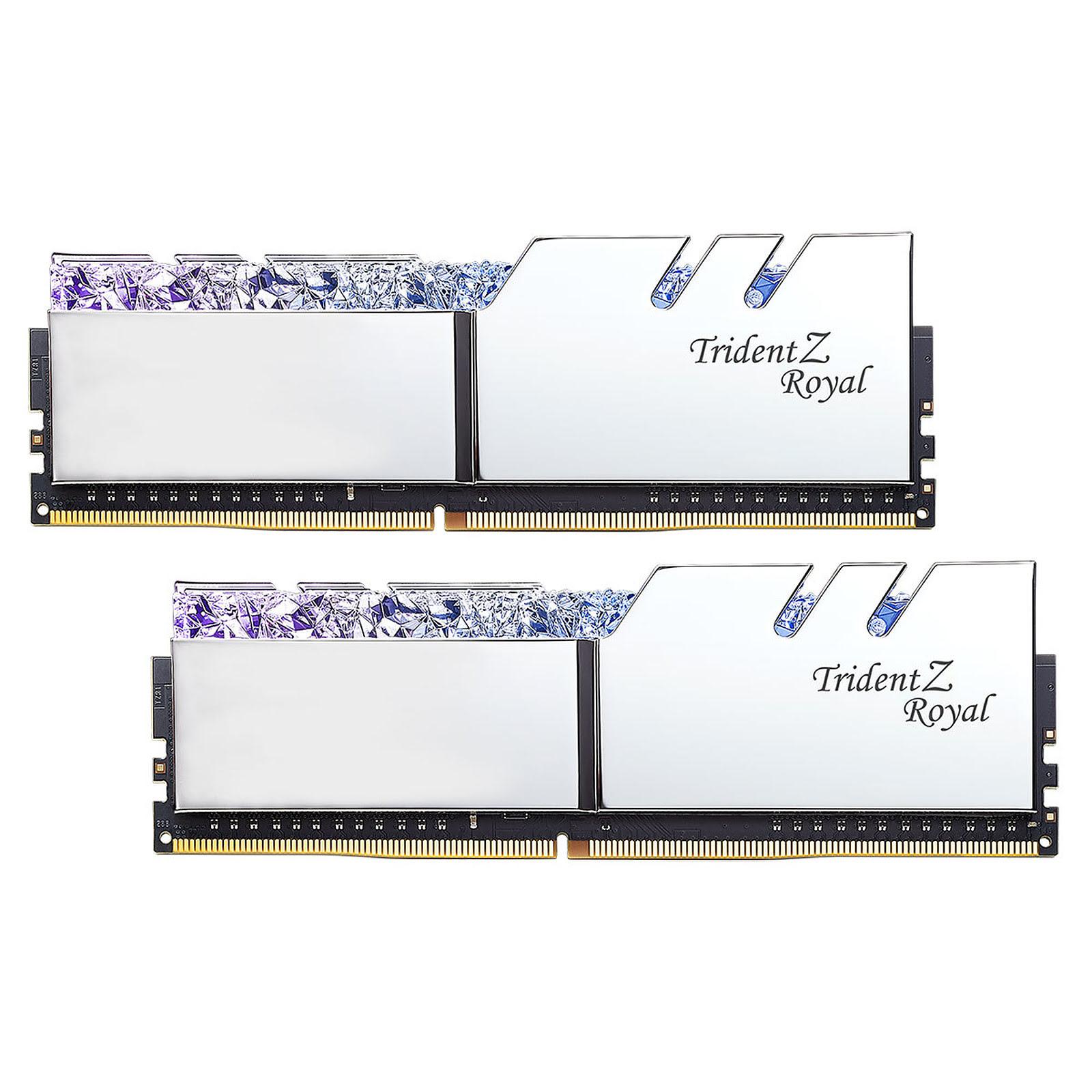 G.Skill Trident Z Royal SILVER  32Go DDR4 3000MHz PC24000 - Mémoire PC G.Skill sur Cybertek.fr - 0
