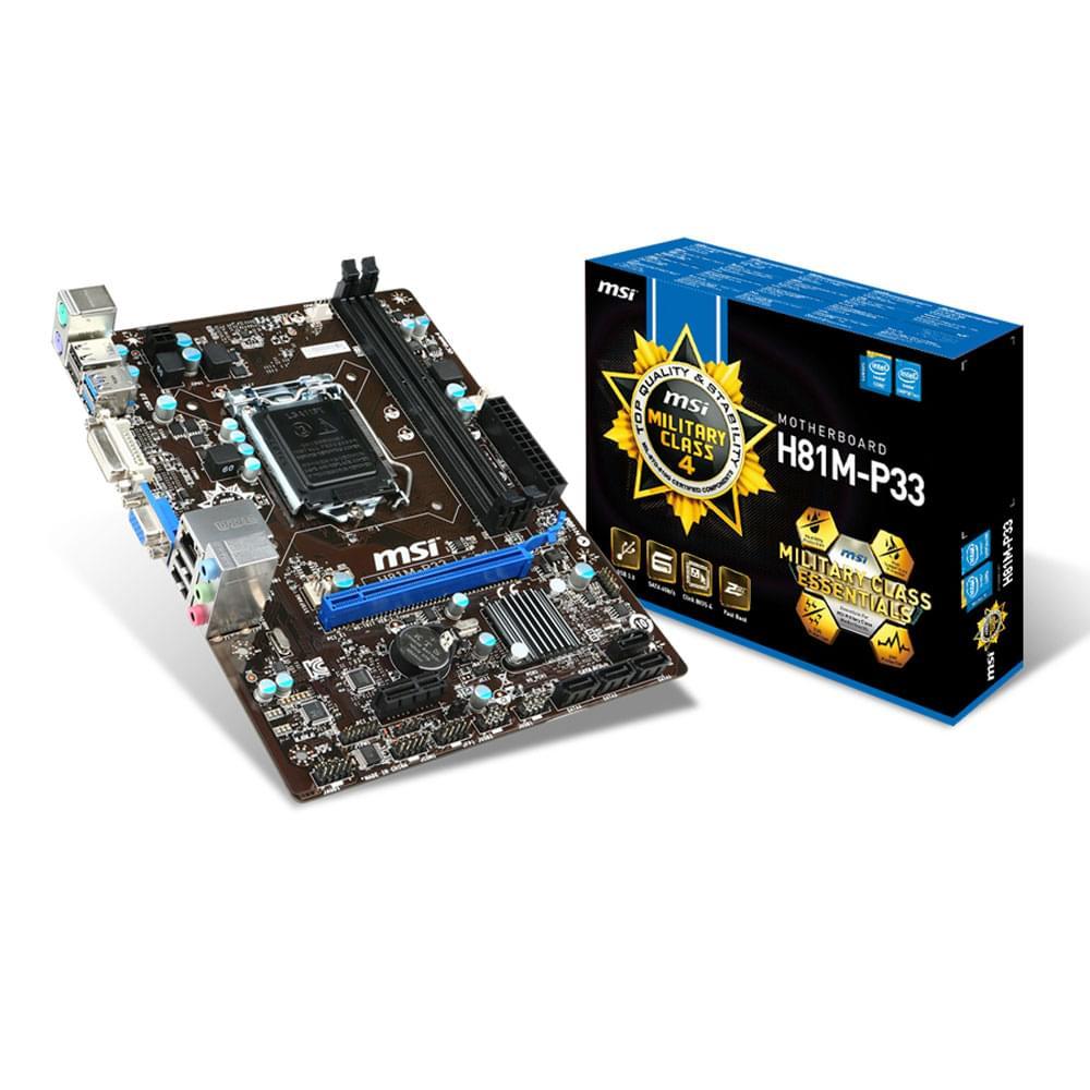 MSI H81M-P33 Micro-ATX DDR3 - Carte mère MSI - Cybertek.fr - 0